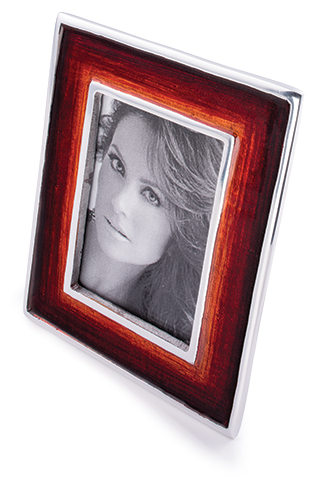 Recycled aluminium red photo frame > Photo Frames > Home & Gifts ...