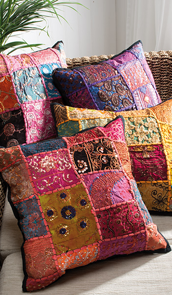 Ari Patchwork Cushion Cover 45 X 45cm Gt Cushions Amp Cushion