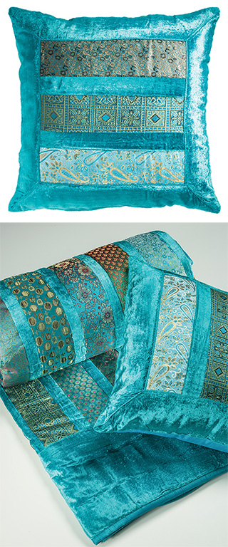 Patchwork Velvet Amp Brocade Cushion Cover Gt Cushions