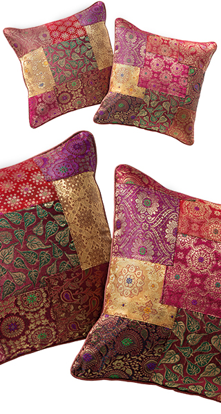Brocade Patchwork Cushion Cover Assorted Colours 40 X