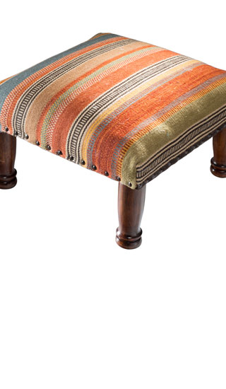 Ooty Stripe Kilim Footstool Gt Footstools Pouffes Chests