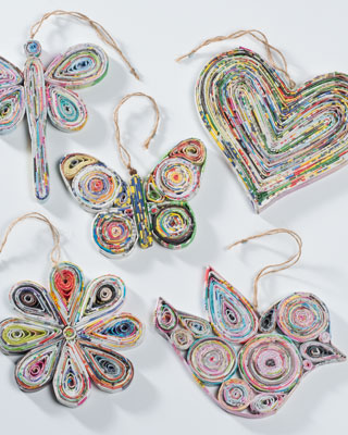 Recycling paper crafts