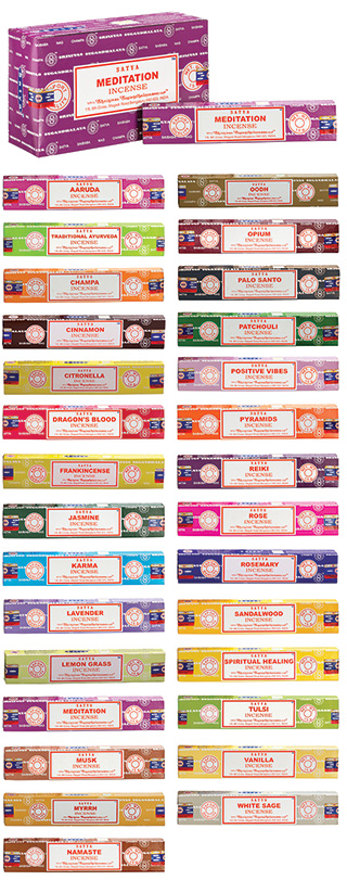 Satya Nag Champa Meditation Series - Incense sticks 15gms