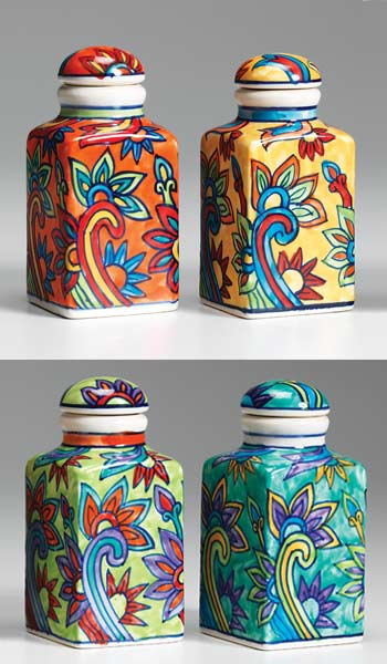 Hand Painted Ceramic Spice Jar Gt Ceramic Storage Chests