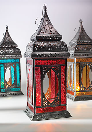 Moroccan Style Large Indian Glass Lantern Gt Moroccan Style