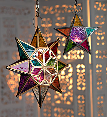 Moroccan Style Large Star Glass Lantern Gt Moroccan Style