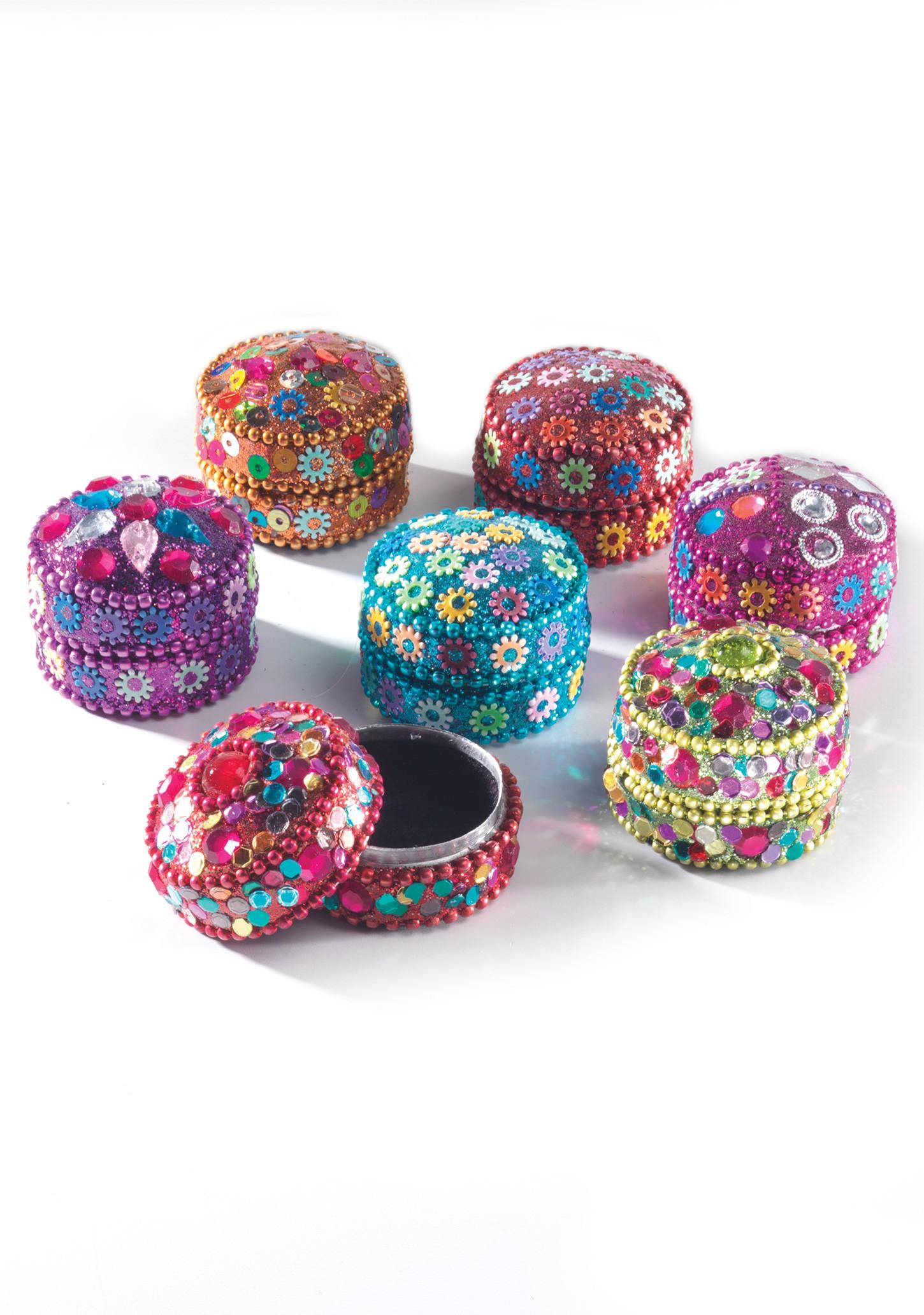Round Mini Pill Box Glitter And Beads Gt Trinket Amp Pill