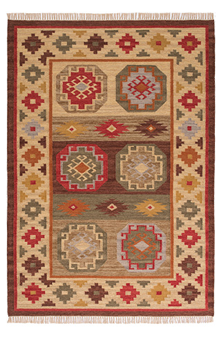 Kohra Indian Kilim Rug 120 X 180cm Gt Pure Wool Amp Cotton