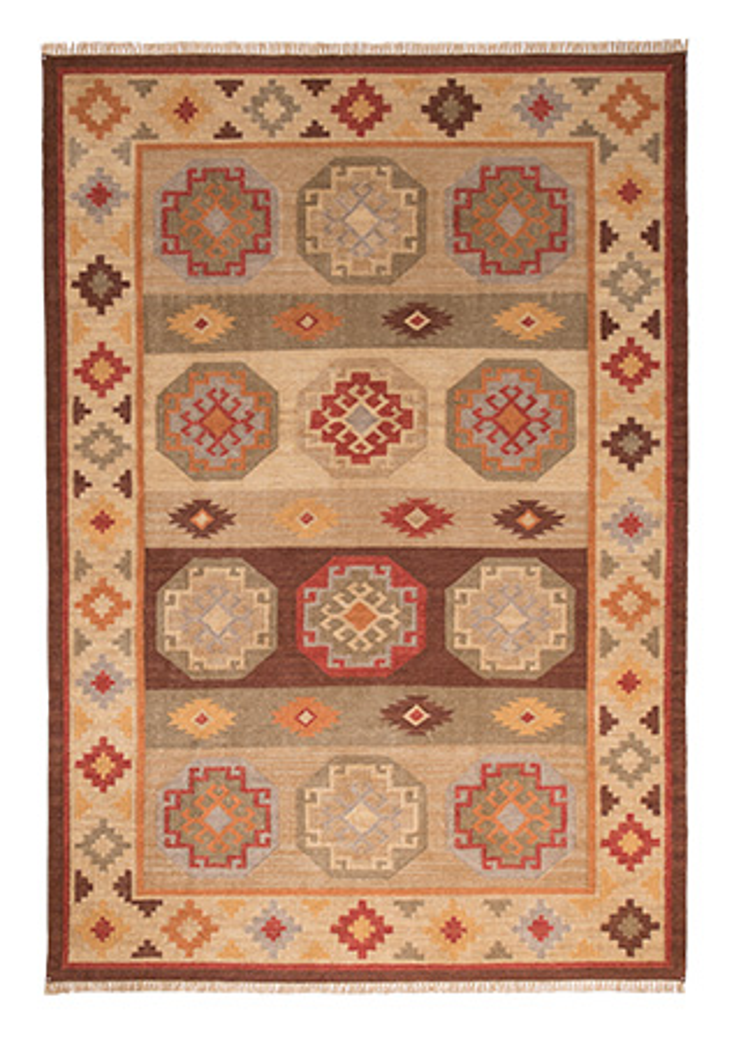 Kohra Indian Kilim Rug 180 X 270cm Gt Pure Wool Amp Cotton