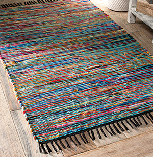 Recycled Cotton And Fleece Chindi Rug 60 X 90cm