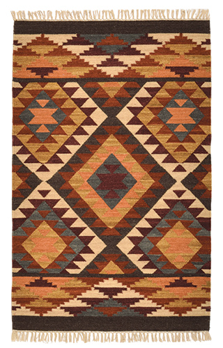 Indian Kilim Rug 75 X 120cm Pure Wool