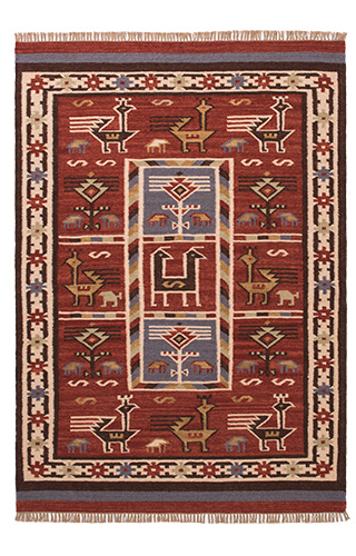 Birdsong Indian Kilim Rug 180 X 270cm Gt Pure Wool Amp Cotton