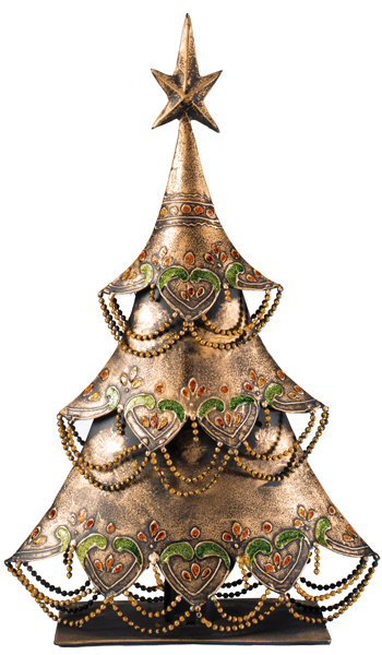 Enamelled Jewelled Standing Christmas Tree Gt Decorations