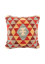 Jaipur mirror work cushion cover