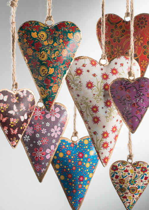Floral Printed Metal Hearts Gt Gifts Gt Namaste Home Page