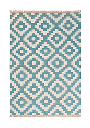 Aqua Indoor Outdoor Kilim Rug 120 X 180cm