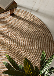 Braided Jute Amp Cotton Round Natural Rugs Gt Furnishings