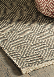 Diamond Pattern Handloom Rug 100 Jute 120 X 180cm