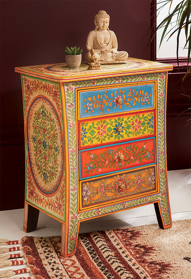 Hand Painted Bedside Cabinet > Chests of Drawers ...