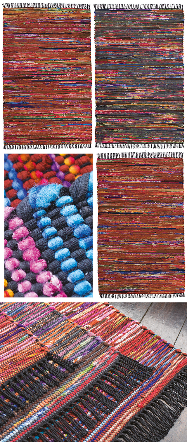 Recycled Cotton and Fleece Chindi Rug