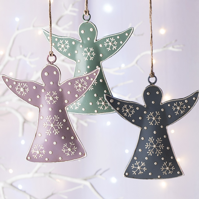 Hand Painted Angel Hanging Decoration Gt Christmas