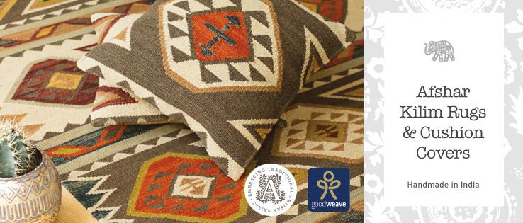 Pure Wool Cotton Kilim Rugs