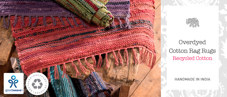 Recycled Overdyed Cotton Rag Rugs