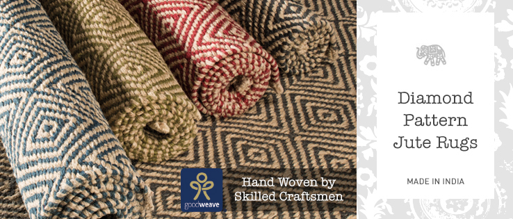 Diamond Pattern Jute Rugs Gt Home Furnishings Gt Namaste