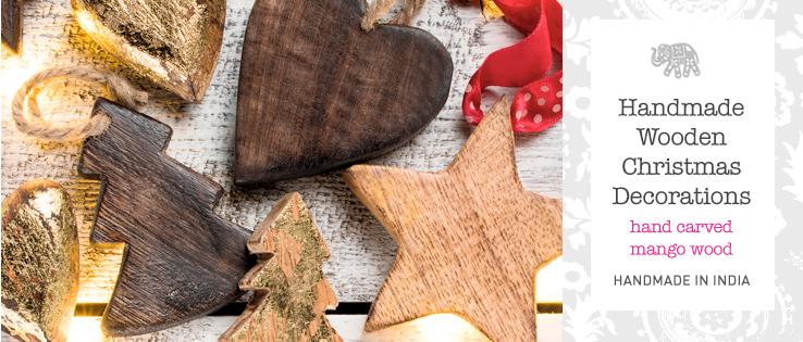 Handmade Wooden Christmas Decorations