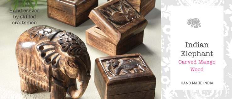 Indian Elephant Mango Wood Home Accessories > Home & Gifts
