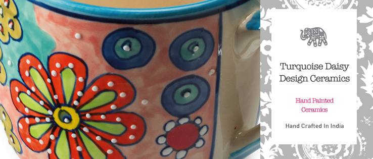 Turquoise Daisy Design Ceramics Gt Home Amp Gifts Gt Namaste