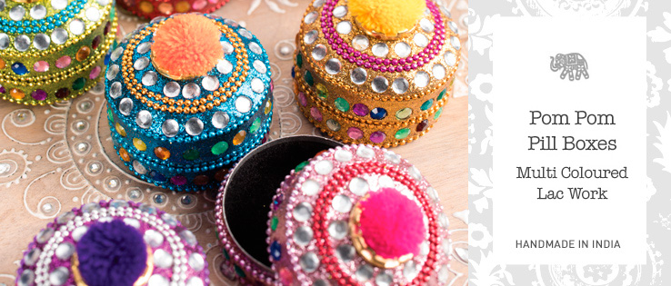 Trinket Pill Boxes Home Gifts Namaste Fair Trade Namaste