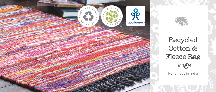 Great Value Bright And Cheerful Rugs Are Produced From Cotton Recycled Fleece Soft To The Touch But Also Hard Wearing Made On Handlooms By One Of Our